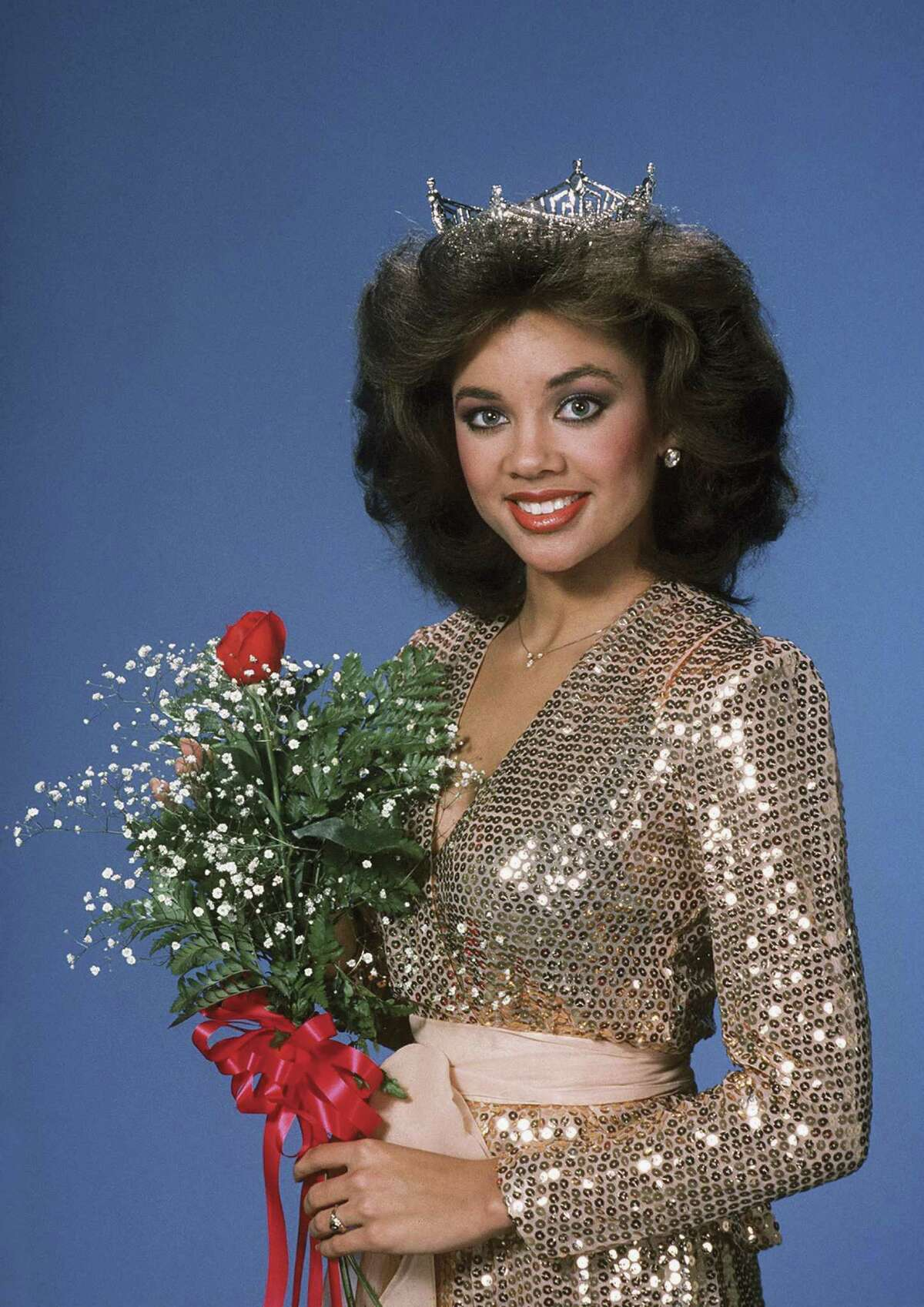 Miss America In 1983, Williams became the first African-American woman to win the crown. She later relinquished it when Penthouse magazine published nude photographs of her.