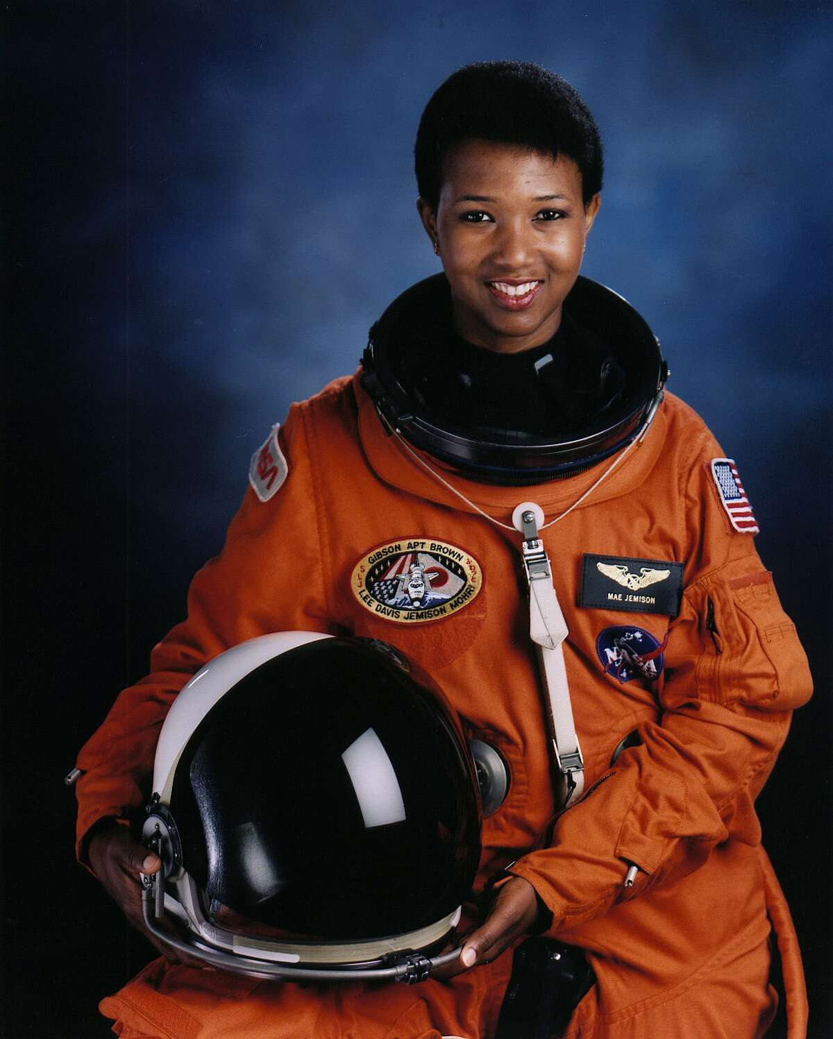 Astronaut Mae Jemison, first African-American woman in space as STS-47 Endeavour mission specialist.