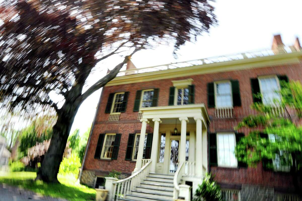 The front entrance of Ten Broeck Mansion on Wednesday, May 25, 2011, in Colonie, N.Y. (Cindy Schultz / Times Union) ORG XMIT: MER2014120309352205
