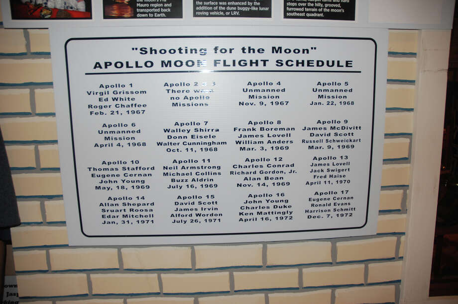 Apollo flight schedule to the moon photo by Jeff reedy