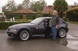 Photos of David Duda and his 1999 BMW Z3 Coupe photographed at the White Oak Vineyard and Winery near Geyserville, California on December 18, 2014.