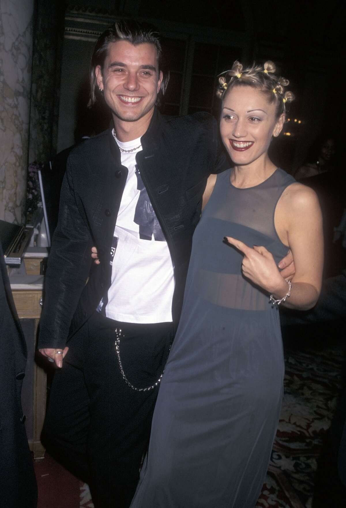 Musician Gavin Rossdale of Bush and singer Gwen Stefani of No Doubt attend the 40th Annual Grammy Awards Pre-Party Hosted by Clive Davis on February 24, 1998 at the Plaza Hotel in New York City.