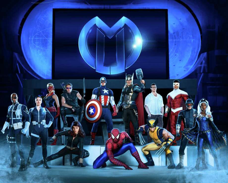 "Heroes and villains battle in ""Marvel Universe LIVE!"" It promises to be an eye-popping, over-the-top extravaganza. Photo: FELD ENTERTAINMENT / Tim Pannell"