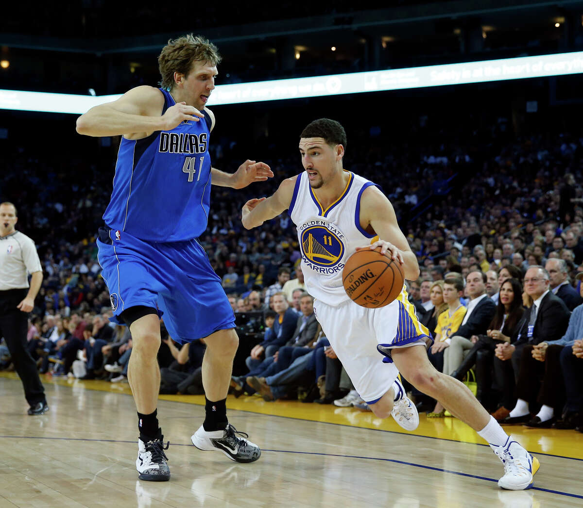 Warriors' fourth-year guard Klay Thompson, once regarded as mostly a jump shooter, now also has the ability to regularly impact the game with his drives to the basket.