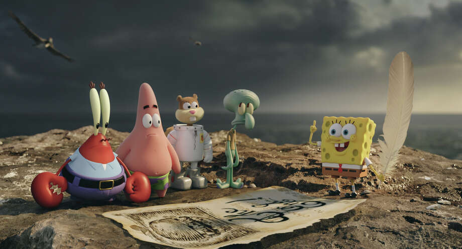 "This image released by Paramount Pictures and Nickelodeon Movies shows characters, from left,  Mr. Krabs, Patrick Star, Sandy Cheeks, Squidward Tentacles, and SpongeBob SquarePants in a scene from ""The Spongebob Movie: Sponge Out of Water."" (AP Photo/Paramount Pictures and Nickelodeon Movies) Photo: Associated Press / Paramount Pictures and Nickelode"
