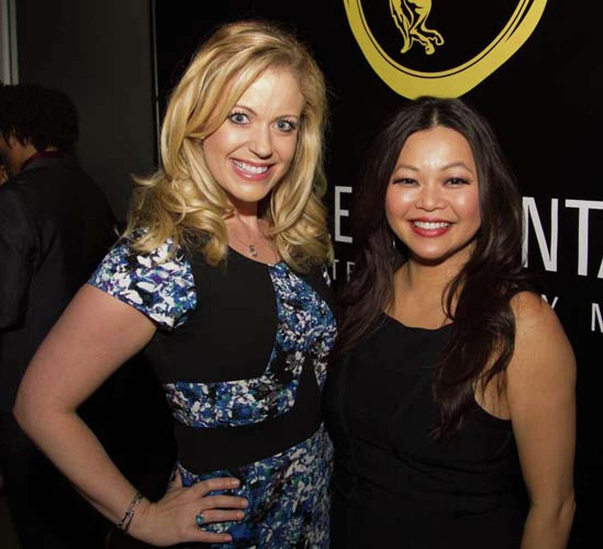 Maggie Flecknoe, left, and Chloe Dao