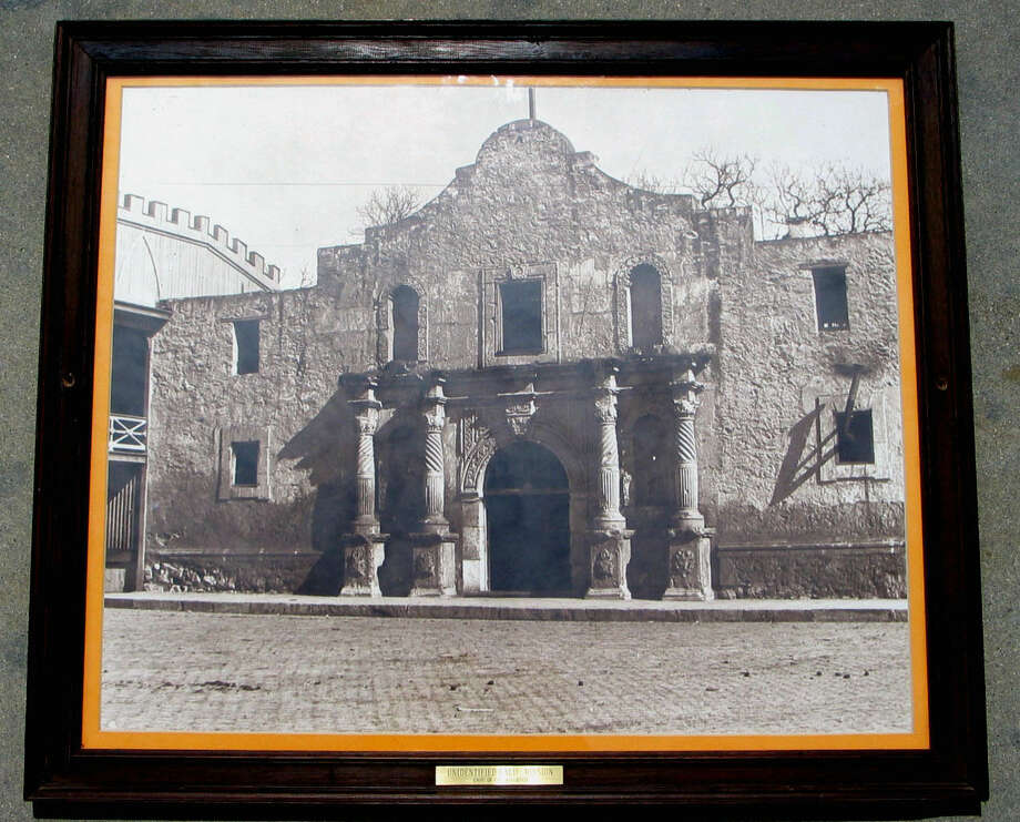 """This photo by Ebay user, jazzcatsmeow, shows a framed Alamo photo mislabeled as an """"unidentified California mission."""" Photo: Ebay/jazzcatsmeow"""