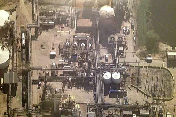 : An aerial view of the pesticide manufacturing unit where four workers died Nov. 15 at DuPont's La Porte plant. Federal officials called for DuPont to reform its safety culture years before the accident.