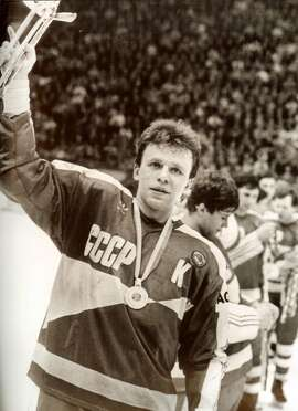 Slava Fetisov was the captain of the Soviet hockey team that reigned supreme in the 1970s and 1980s.