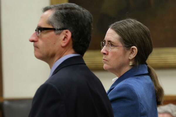3of4Renee Benson is shown with her lawyer Bennett Stahl during a February  hearing. Wednesday s decision was a victory for her.Photo  Bob Owen  San  Antonio ... 612f26252