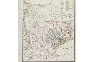 A Carl Flemming map of Texas. Features show towns and the locations of Indian tribes.