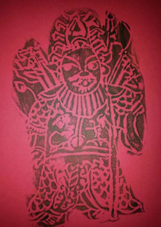 This print of the God of Wealth, which is usually put on the doors of homes during Lunar New Year celebrations, will be among the artwork by students on display at the Chinese Language School of Connecticut's 13th annual Chinese New Year Festival in Greenwich, Conn. Photo: Contributed Photo / Stamford Advocate Contributed photo