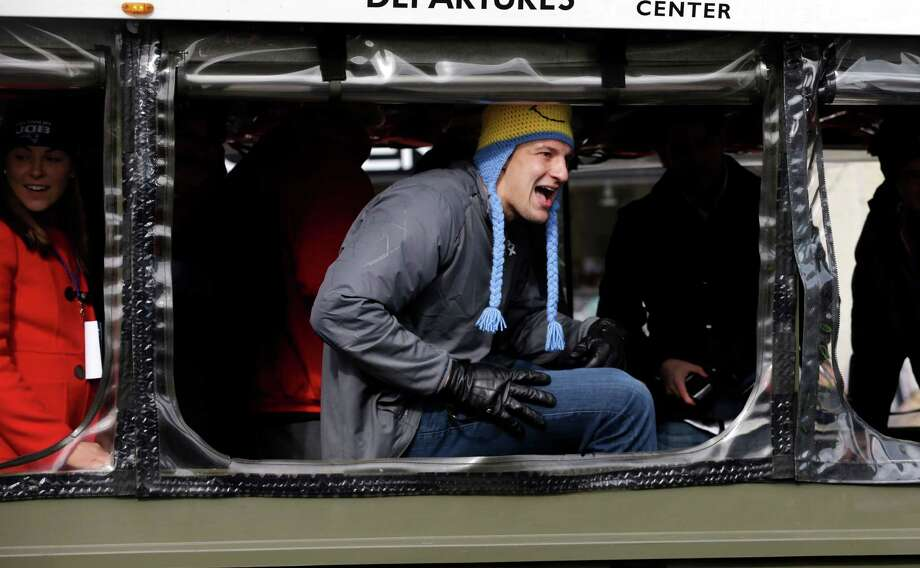 """ROB GRONKOWSKI, NFLOn the last book he read:""""I haven't read a book since ninth grade when they made me ... you know, you don't raise your hand and they call on you. 'A Mocking to Remember' or whatever? 'A Mockingbird to Remember,' I think that was the last book I read."""" Photo: Steven Senne / AP"""