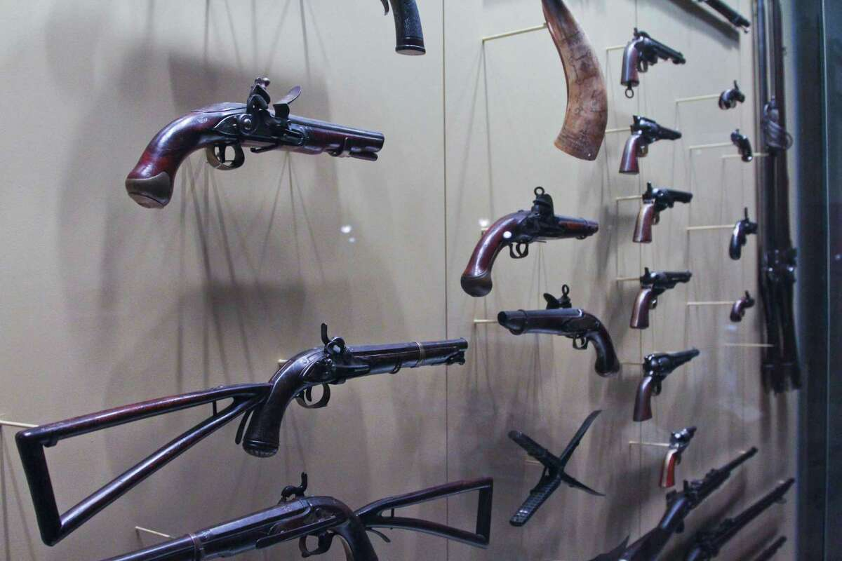 Bang Boom Pow The Conflict Room has a a great showcase of pistols, rifles and other wartime firearms.