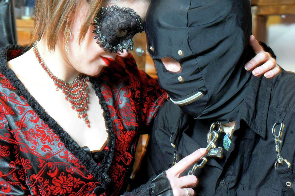 Julia and Cassavini a BDSM couple on Wednesday Feb. 4, 2015 in Bennington, VT. (Michael P. Farrell/Times Union)