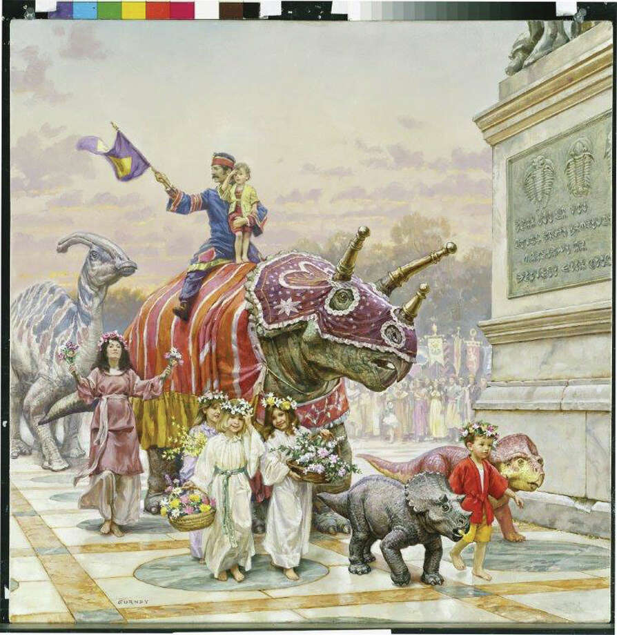 "The Stamford Museum & Nature Nature is presenting ""Dinotopia: The Fantastical Art of James Gurney"" through May 25. Photo: Contributed Photo / Connecticut Post Contributed"