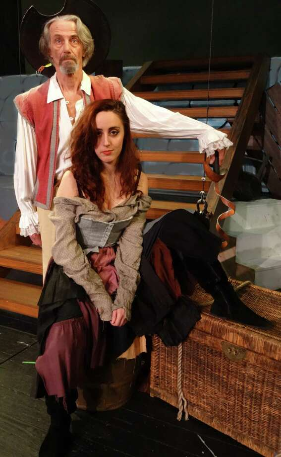 "Ted Yudain plays Cervantes/Don Quixote and Rachel Schulte is Aldonza in the 50th anniversary production of ""Man of La Mancha"" at Curtain Call in Stamford through Feb. 28. Photo: Contributed Photo / Connecticut Post Contributed"