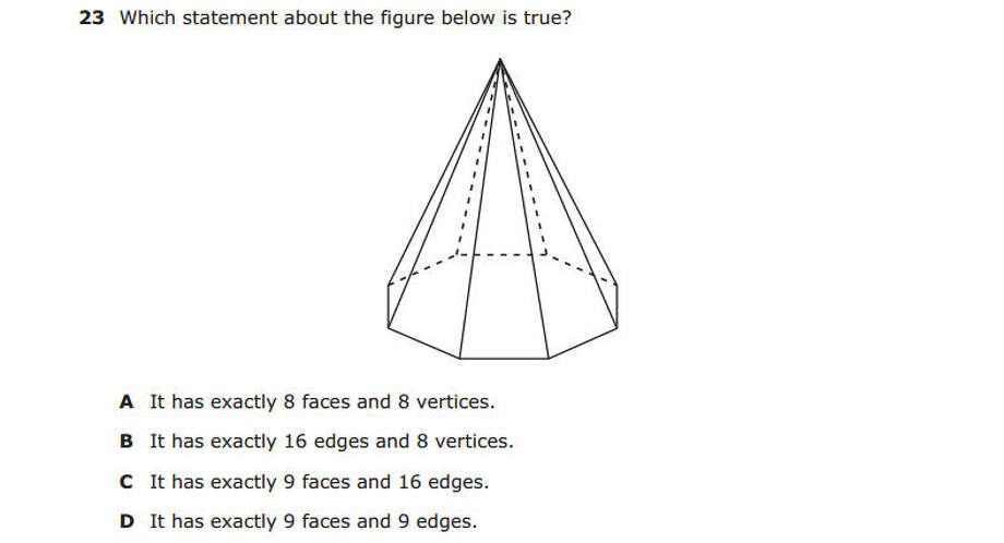 Question from the fifth grade math section of the 2014 STAAR test. Photo: Texas Education Agency