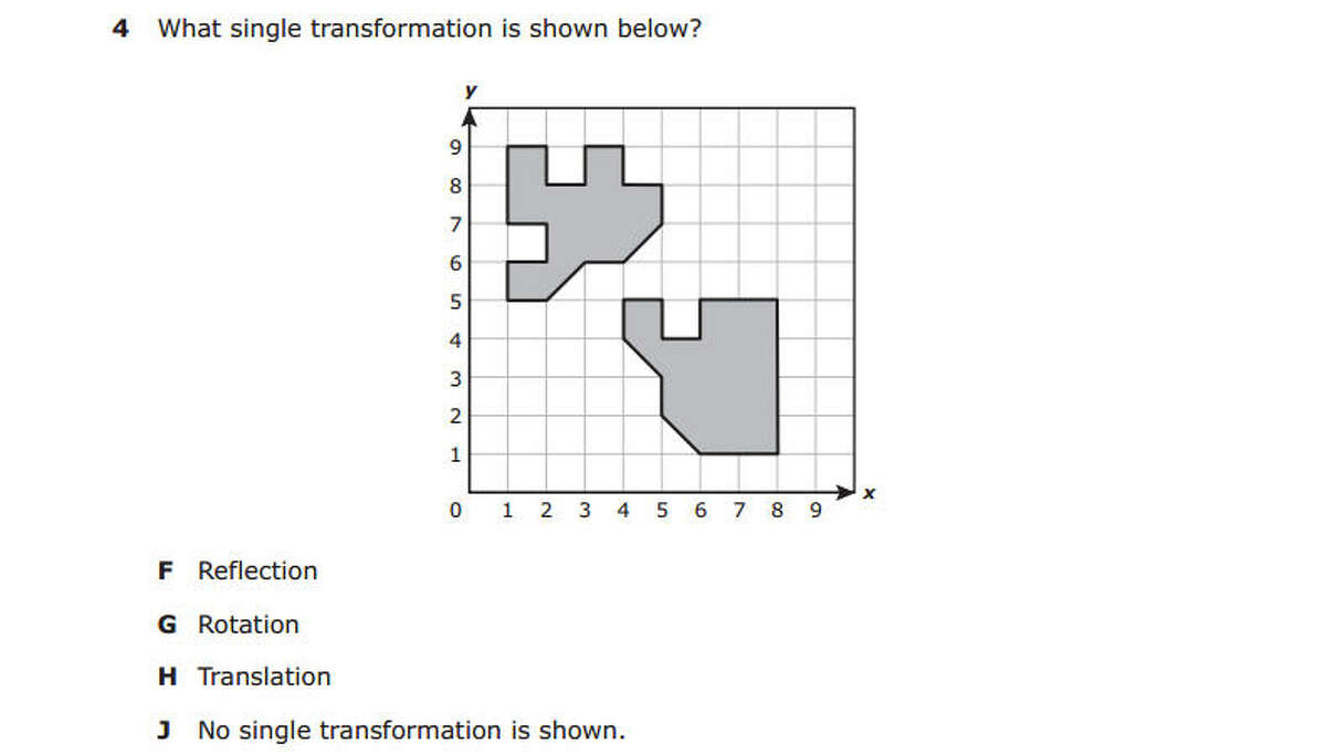 This question was taken from the fifth grade math section of the Texas Education Agency's 2014 STAAR (State of Texas Assessments of Academic Readiness) Test.