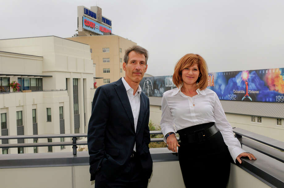 Amy Pascal, chairman of Sony's motion picture group, here with CEO Michael Lynton in 2009, is known as the last of the old-time studio chiefs. Photo: JAMIE RECTOR / New York Times / NYTNS