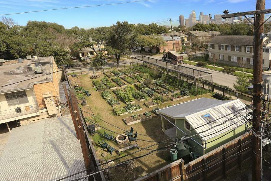 A Montrose-area community garden off Kipling and Stanford, Greenleaf Gardens, has been a favorite of those in the area for almost three years. Photo: HAR / William Winkler