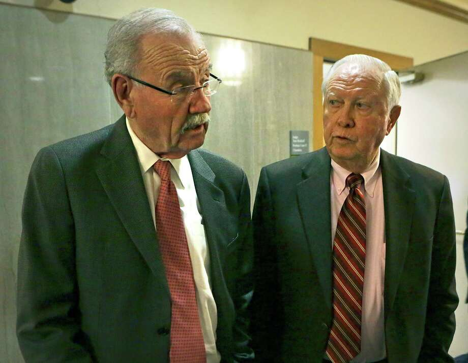Wednesday's decision upheld the appointment of former Mayor Phil Hardberger (left) and lawyer Art Bayern as receivers of the Shirley Benson trust. Photo: Bob Owen /San Antonio Express-News / ©2015 San Antonio Express-News