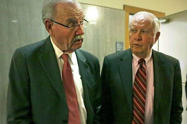 ... of former Mayor Phil Hardberger (left) and lawyer Art Bayern as  receivers of the Shirley Benson trust.Photo  Bob Owen  San Antonio Express- News 3fb7163ae
