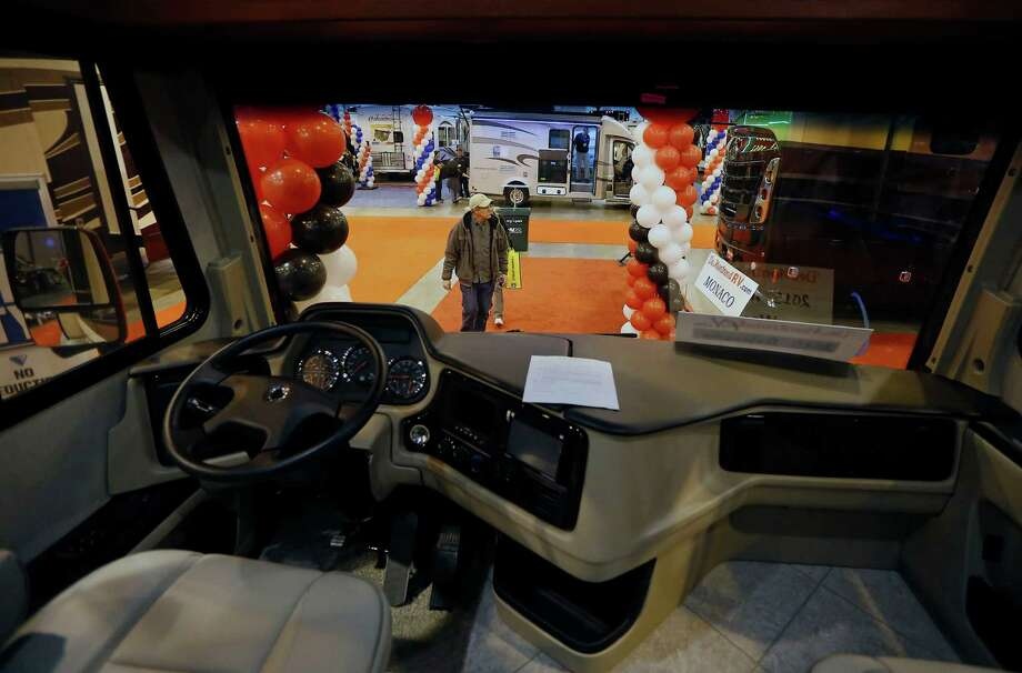 An RV driver will have the controls near at hand. Attendance on Wednesday, the first day of the Houston RV Show, was up nearly 30 percent over 2014's opening date. Photo: James Nielsen, Staff / © 2015  Houston Chronicle