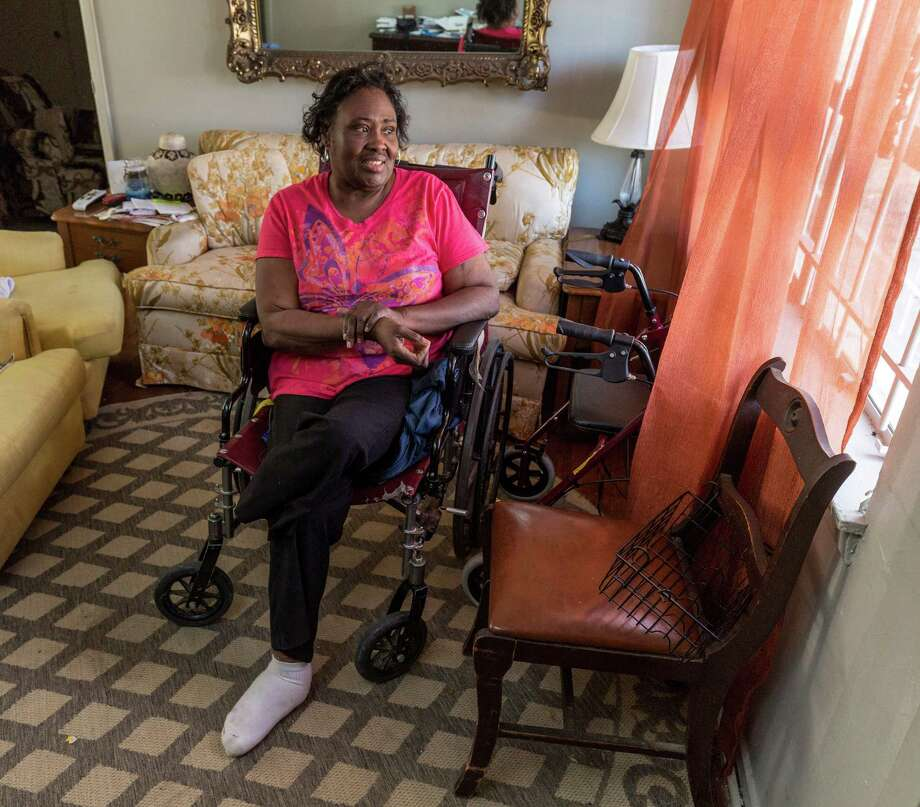 """""""I do like to pay my bills,"""" says Brenda Jones, who lost part of a leg to diabetes. Because of her medical expenses, she fell behind on property taxes. A property tax loan helped at first, but her problems paying it back almost led to a foreclosure.  Photo: Craig Hartley, Freelance / Copyright: Craig H. Hartley"""