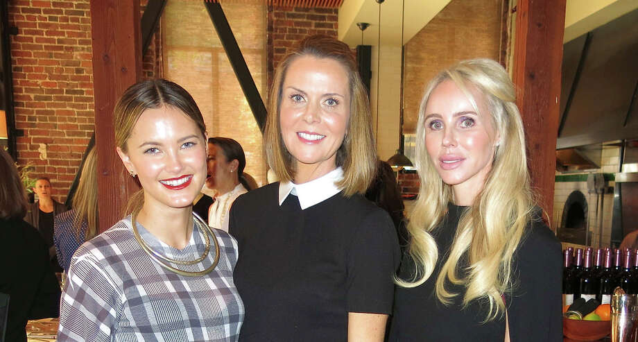 Kyleigh Kuhn (left) with La Perla North America CEO Suzy Biszantz (center) and Vanessa Getty at Cotogna in San Francisco. Photo: Catherine Bigelow / Special To The Chronicle / ONLINE_YES
