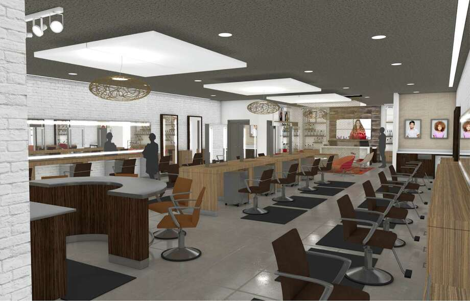 This artist's rendering shows the design for J.C. Penney's new hair salons, The Salon by InStyle. Photo: Uncredited, HONS / JC Penney