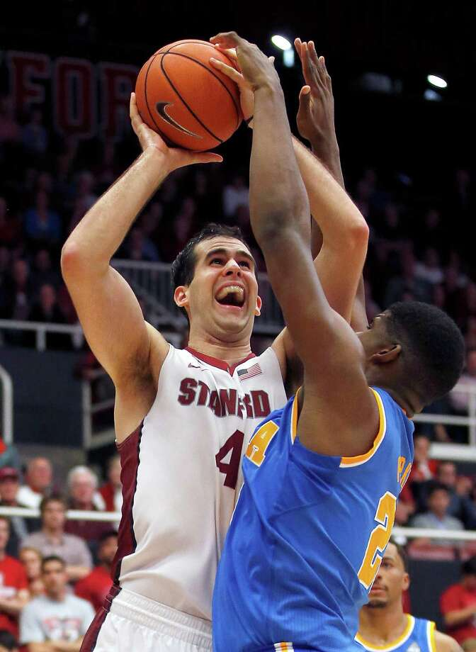 Stanford center Stefan Nastic (4) shoots over UCLA forward Tony Parker (23) during the second half of the Cardinal's 69-67 loss. (AP Photo/Tony Avelar) Photo: Tony Avelar / Associated Press / FR155217 AP