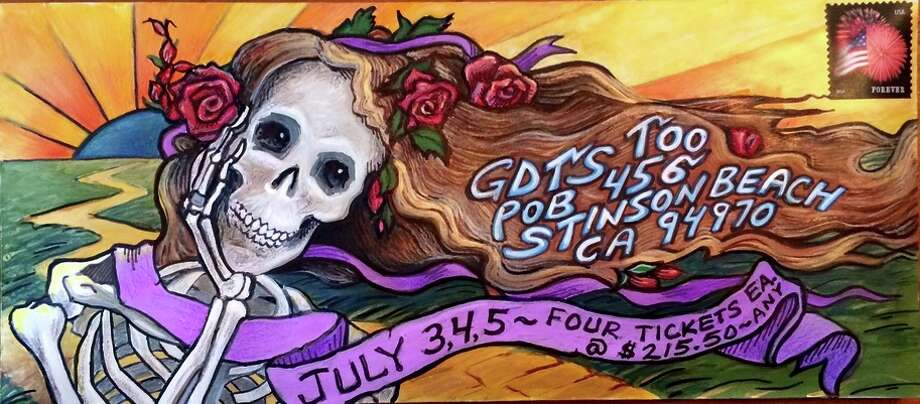 Grateful Dead fans sent in more than 60,000 hand decorated envelopes to a P.O. Box in Stinson Beach in the hopes of getting tickets to the band's final shows at Chicago's Soldier Field. Photo: #Dead50 / ONLINE_YES