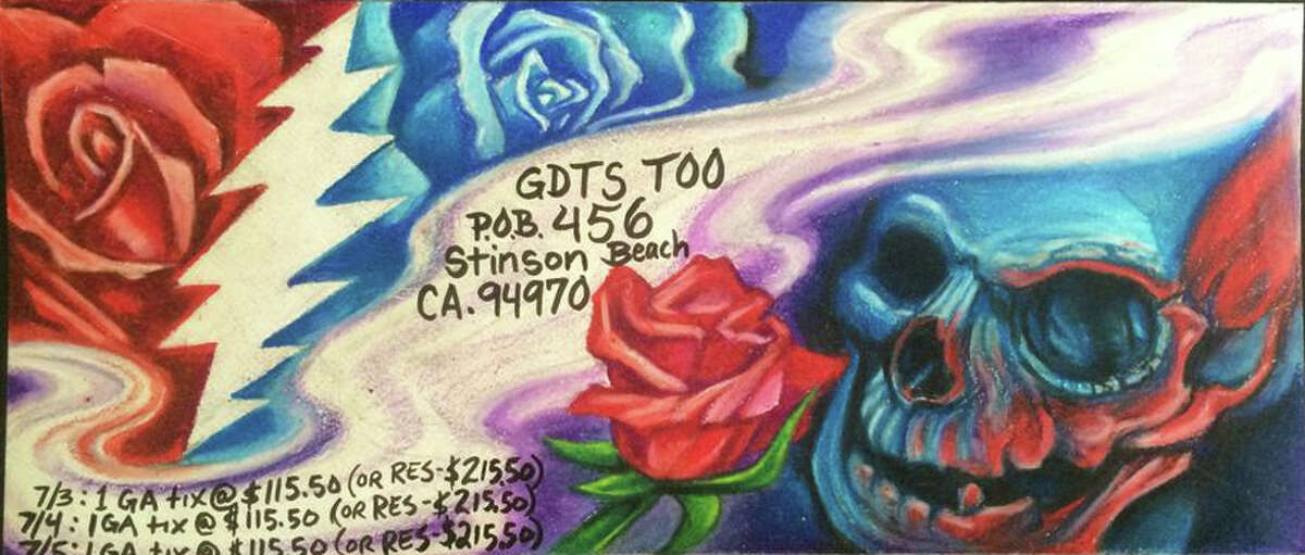 Grateful Dead fans sent in more than 60,000 hand-decorated envelopes to a P.O. Box in Stinson Beach in the hopes of getting tickets to the band's final shows at Chicago's Soldier Field.