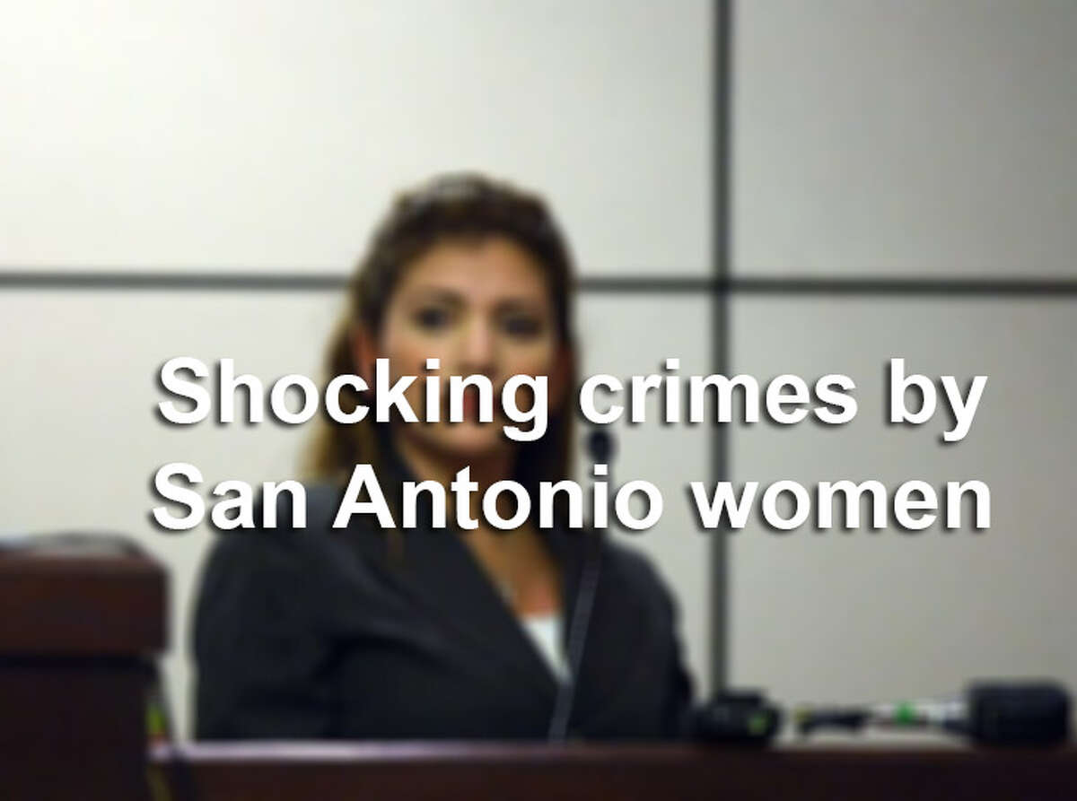 Click through the gallery to see some headline-grabbing crimes committed by women in San Antonio.