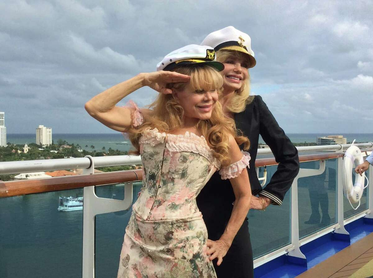 """Charo and actress Lonnie Anderson join the 50th anniversary festivities aboard the Regal Princess, marked with a """"Love Boat"""" theme last fall."""