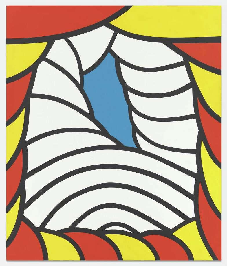 """Battery Park,"" 1965 by Nicholas Krushenick; acrylic on canvas; 84 x 70 inches. (Garth Greenan Gallery)"