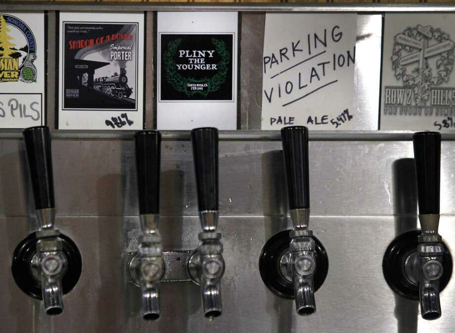 Pliny the Younger India Pale Ale is tapped and ready to pour at the Russian River Brewing Company in Santa Rosa, Calif. on Friday, Feb. 6, 2015. Photo: Paul Chinn / The Chronicle / ONLINE_YES