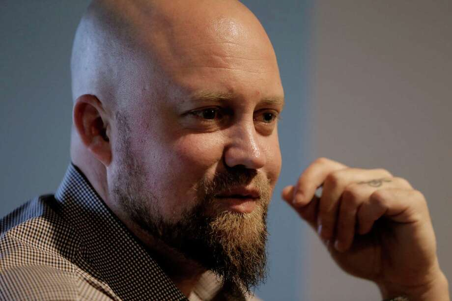 Casey McGehee during an interview as the San Francisco Giants' hold a media availability at AT&T Park in San Francisco, Ca. on Friday Feb. 6, 2015. Photo: Michael Macor / The Chronicle / ONLINE_YES