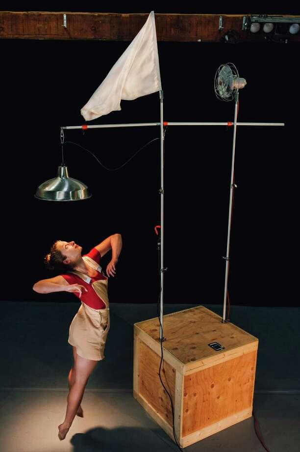 "Dancer Julia Daniel in the premiere of Cid Pearlman's ""Economies of Effort: 1,"" playing at the Joe Goode Annex. Photo: Beau Saunders / Beau Saunders / ONLINE_YES"