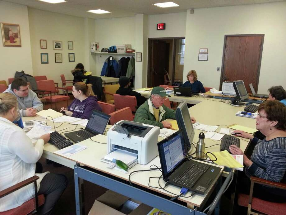 Every Tuesday, Wednesday and Thursday to April 15 from 9:30 to 2:30 p.m. on the third floor at Town Hall and at Greenwich Library, certified volunteers from the Greenwich community and the Retired Menís Association of Greenwich in association with the AARP Foundation will be on hand to help those in need of income tax preparation. Photo: Contributed Photo / Greenwich Time Contributed
