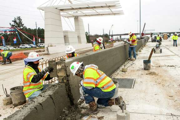 Construction continues on the Tomball Tollway on Friday, Feb. 6, 2015, in Houston.