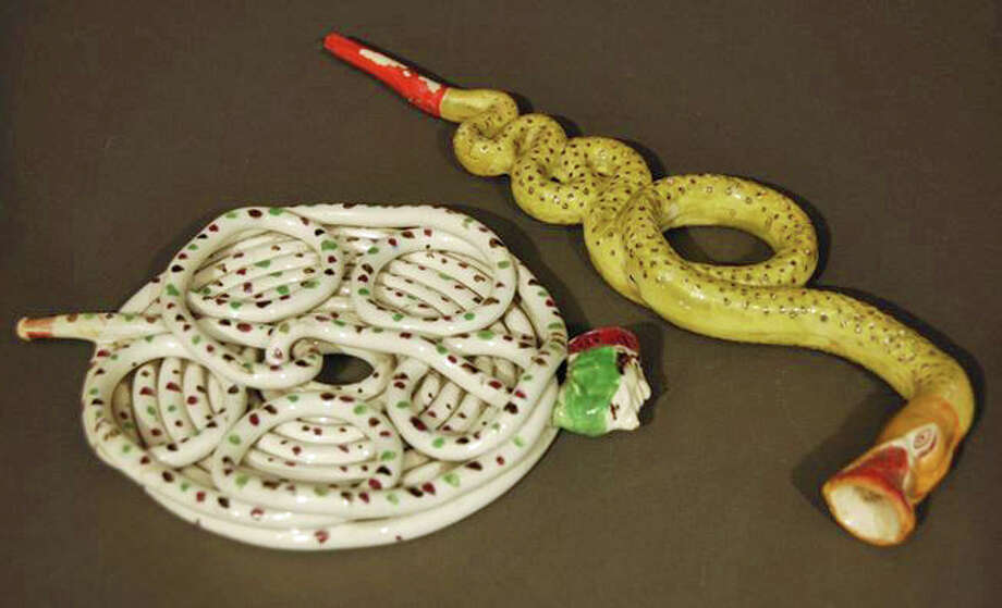 Puzzle Pipes, ca. 1780. Staffordshire, England. Gift of U.S. Tobacco Company Photo: Contributed Photo/Bruce Museum, Contributed Photo / Greenwich Time Contributed