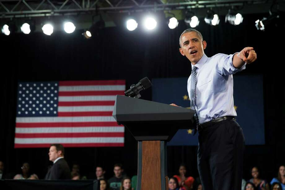 President Obama addresses students at Ivy Tech Community College in Indianapolis. He wants to make two years of community college free. Photo: Evan Vucci / Associated Press / AP