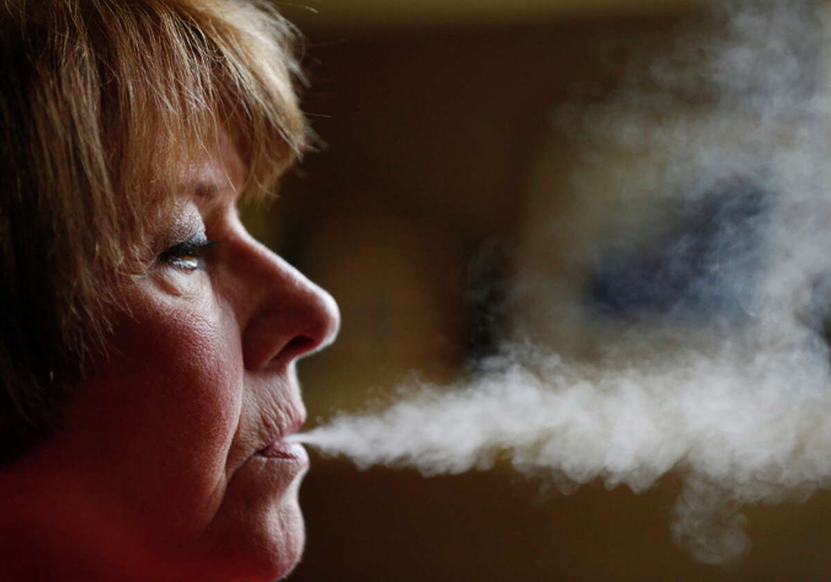 """Roberta Keller of Sunnyvale says her vaporizer has helped her quit her longtime cigarette habit: """"I really think it's a psycho logical thing."""""""