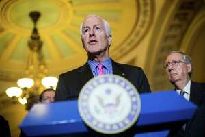 Senate Majority Whip John Cornyn (R-Texas) was among a few legislators who a letter to the editor writer characterized as unresponsive. Cornyn speaks to reporters at a news conference on Capitol Hill in Washington in January.