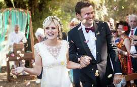 Dominique Farrar and Julien Veyrac married Sept. 6 at River's Bend Retreat Center in Philo.