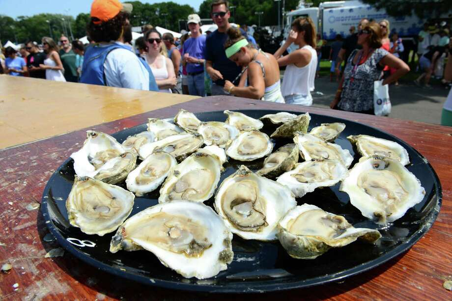 Oysters at the The 40th Annual Milford Oyster Festival in downtown Milford, Connecticut, on Saturday, August 16, 2014. Photo: Christian Abraham / Connecticut Post