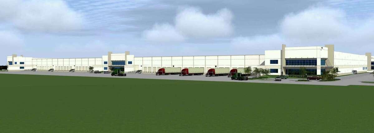 DCT Northwest Crossroads Logistics Centre under construction at 11717 Windfern.