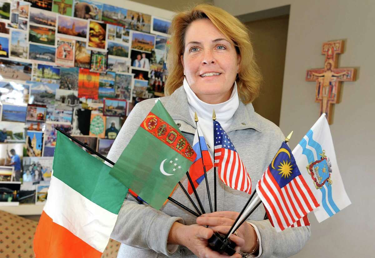 Diane Conroy-LaCivita, executive director of the International Center of the Capital Region, on Friday, Jan. 30, 2015, at Siena College in Loudonville, N.Y. She has arranged a tour of seven local places of worship on Feb. 14. (Cindy Schultz / Times Union)
